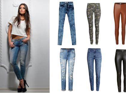 Modne spodnie i jeansy