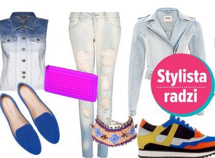 Modne stylizacje na wiosnę 2013 z dżinsowymi elementami