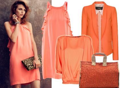 Modne ubrania i dodatki w kolorze soczystej pomarańczy
