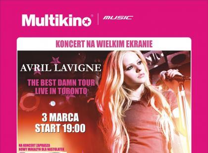 Multikino zaprasza na koncert Avril Lavigne!