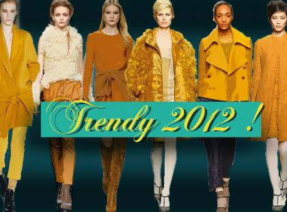 Musztardowy - Najważniejsze trendy 2012