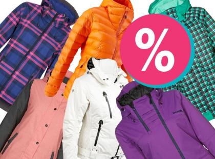 Najmodniejsze kurtki na narty do 70% taniej