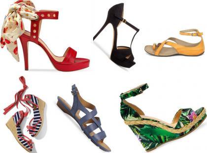 Najmodniejsze sandały na lato 2012
