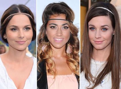 Najpiękniejsze fryzury z modnymi opaskami w roli głównej