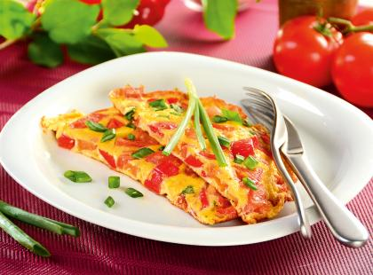 Naleśnikowy omlet z szynką