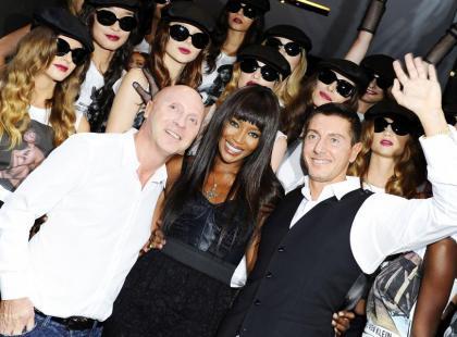 Naomi Campbell na jubileuszowej imprezie Dolce & Gabbana w Mediolanie