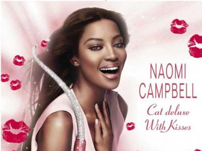 """Naomi Campbell w reklamie perfum """"Cat deluxe With Kisses"""""""