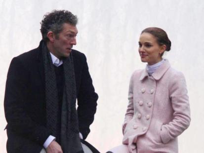 "Natalie Portman i Vincent Cassel na planie filmu ""Black Swan"""