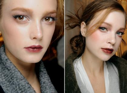 Naturalny look -  Makijaż z wybiegu