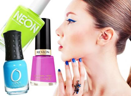 Neonowe lakiery do paznokci na lato 2014