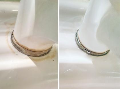 Nie sądziłam, że moja łazienka może być taka czysta! Ten produkt zdziałał cuda!