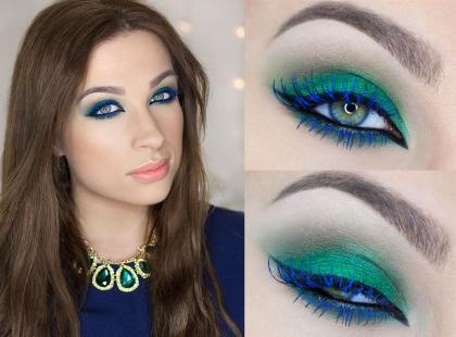 Niebieskie rzęsy - hit letniego makijażu krok po kroku [video]