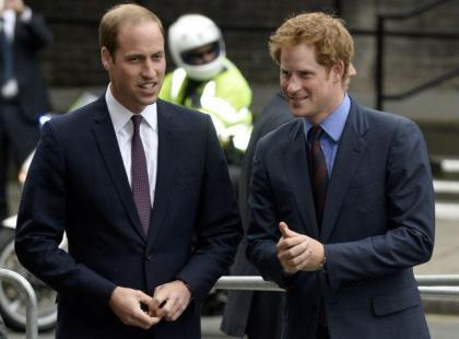 Niecodzienny widok: książę Harry i książę William razem