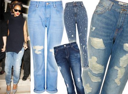 Niezbędnik nonszalancji: jeansy z przetarciami