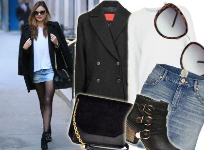 Noś jeansową mini w stylu Mirandy Kerr