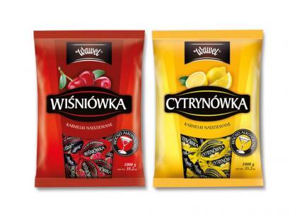 Nowe karmelki Wawel - Cytrynówka i Wiśniówka