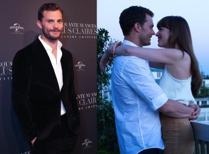 """""""Nowe oblicze Greya"""" zza kulis! Jamie Dornan zdradził, jak wyglądało kręcenie scen seksu i co go łączy z Dakotą Johnson"""