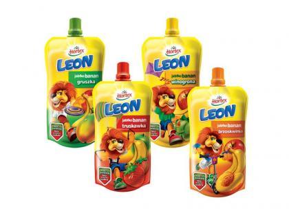 Nowe owocowo-bananowe przecierowe soki Leon