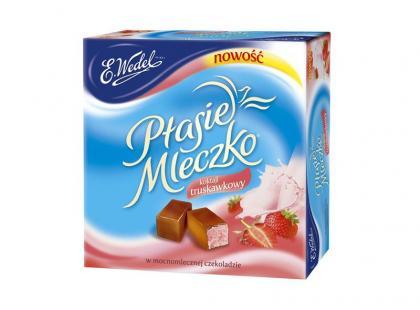 Nowe Ptasie Mleczko® Koktajl Truskawkowy w mocnomlecznej czekoladzie