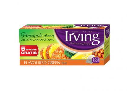 Nowe, soczyście owocowe, zielone herbaty IRVING