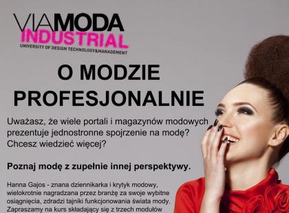 O modzie profesjonalnie - kurs dla pasjonatów mody