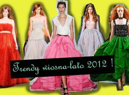 Obszerne suknie - Trendy wiosna/lato 2012!