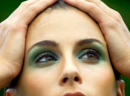 Oczy w kolorze gruszki