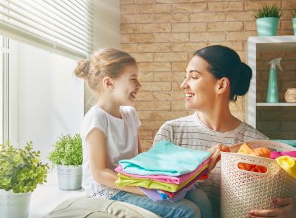 Mama i dziecko, pranie