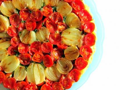 Odwracana tarta z pomidorami - Kasia gotuje z Polki.pl