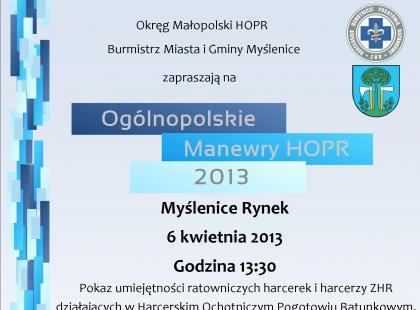 """""""Ogólnopolskie Manewry HOPR 2013"""""""