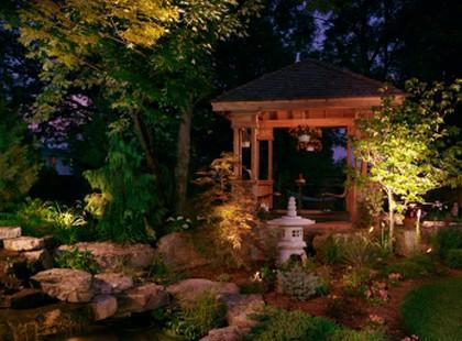 Ogród w dobrym świetle