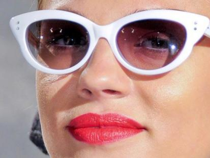 "Okulary ""kotki"" w stylu Pin-Up"