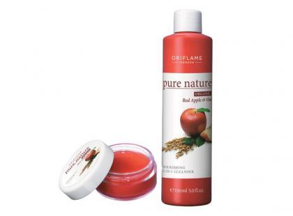 Oriflame Pure Nature z czerwonym jabłkiem i owsem