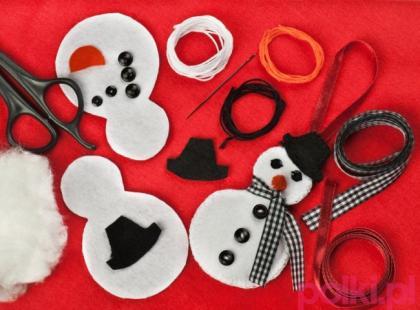 Ozdoby świąteczne z filcu - DIY