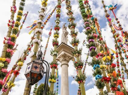 Palmy wielkanocne w Lipnicy Murowanej sięgają nieba