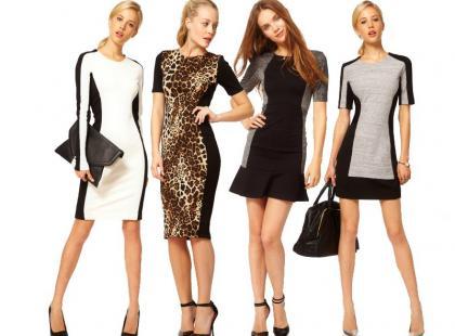 Panelowe sukienki optycznie wyszczuplają