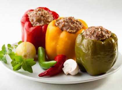 Papryka faszerowana mięsem - Lekka kuchnia