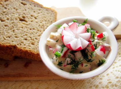 Pasta z tuńczyka z rzodkiewką - Kasia gotuje z Polki.pl