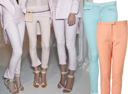 Pastelowe spodnie - gorący trend 2012
