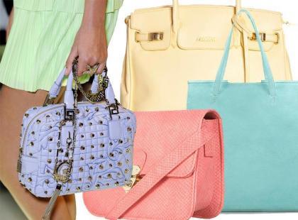 Pastelowe torby i torebki wiosna 2012 - aż 50 najmodniejszych modeli