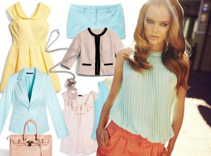 Pastelowe ubrania w kolekcji Mohito 2012