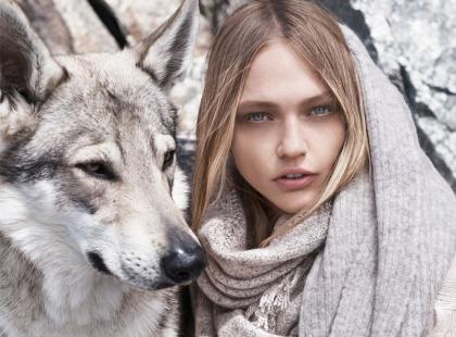 Piękna Sasha Pivovarowa w zimowej kampanii Mango - wow!