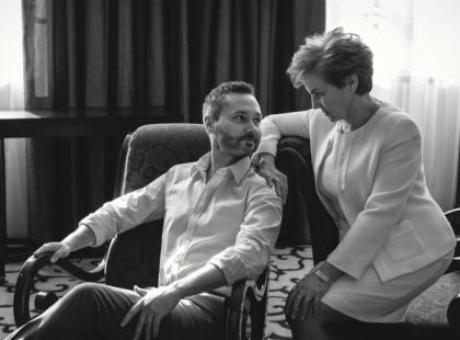 Piękna sesja Danuty Wałęsy z synem Jarosławem