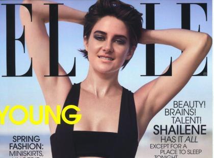 Piękna Shailene Woodley na okładce kwietniowego magazynu