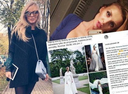 """""""Piekną suknię ślubną sprzedam w dobrej cenie, kupiona przez pomyłkę"""" - ogłosiła celebrytka"""