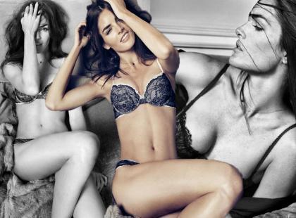 Piękna top modelka w jesiennej bieliźnie Oysho