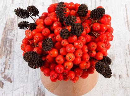 Piękne bukiety: jesienne korale