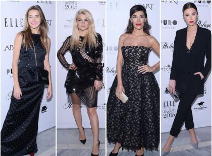 Piękne polskie gwiazdy i kobiety sukcesu w stylowej czerni na elitarnej imprezie