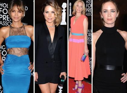 Piękne stylizacje gwiazd na imprezie Hollywood Foreign Press Association