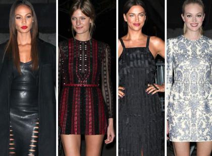 Piękne top modelki na imprezie Vanity Fair w Nowym Jorku